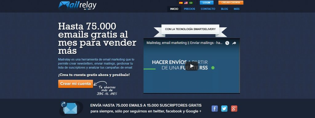 Mailrelay. plataforma de Email Marketing